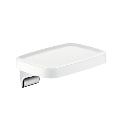 AXOR 42671400 Bouroullec Shelf Small, for Wall Mounting, White/Chrome by AXOR