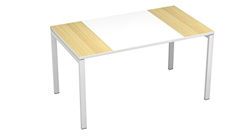Paperflow EasyDesk Training Table, 29.5 x 55 x 31.5 Inches, White Middle with Beech Ends (B140.13.13.23) by Paperflow