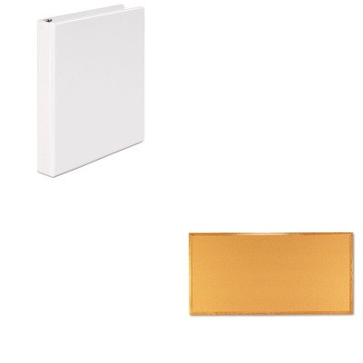 Quartet Economy Cork Board (KITQRT308UNV20962 - Value Kit - Quartet Bulletin Board (QRT308) and Universal Round Ring Economy Vinyl View Binder (UNV20962))