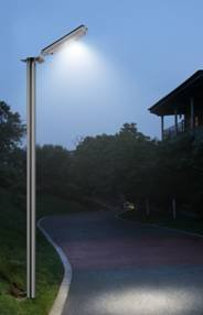 PolePalUSA ALL IN ONE SOLAR SECURITY STREET-POST-WALL-GARDEN LIGHT 64 LED's AUTOMATIC On at Dusk
