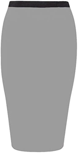 44 Light Grey Size Jersey Crayon Plus 46 Nouveau Midi Jupes Moulante Femmes BZq1Pv8