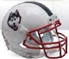 Schutt Connecticut Huskies Mini XP Authentic Helmet White - NCAA Licensed - UCONN Huskies (Huskies Authentic Mini Helmet)