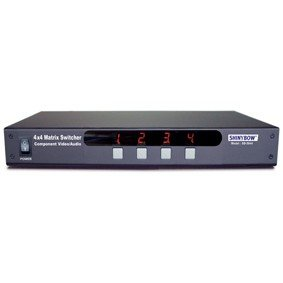 4x4 (4:4) Composite RCA Video + Analog Audio A/V Matrix Switch Switcher SB-5544 by - Composite Matrix Switcher Video