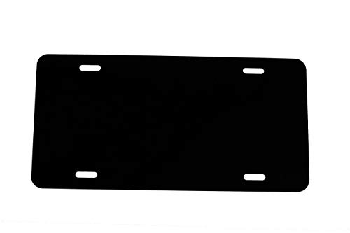 Black - Plastic License Plate Vinyl Blank - .020 - Laser Cut and Made in USA ()