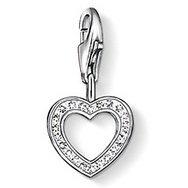 Thomas Sabo Pendant Heart Zirconia Clasp Style Charms (Sabo Thomas Jewellery)