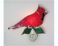 - Studio One Art Glass Cardinal Nightlight
