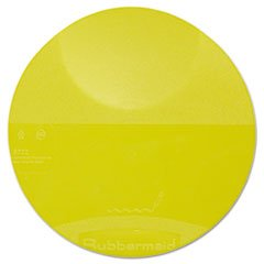 Rubbermaid Commercial Plastic Food Storage Container Lid, Round, Yellow 4 (Round Low Lid)