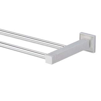 CUBIS-Plus Polished Nickel Double Towel Rail 24-1/2