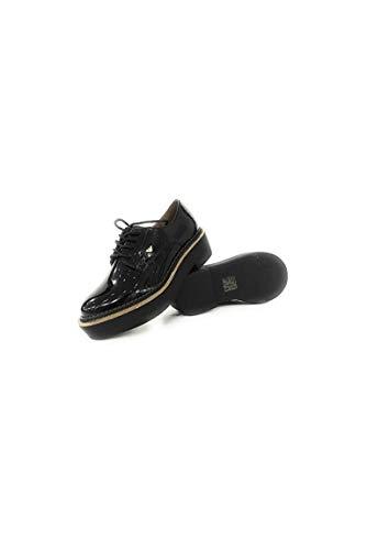 Femme Armani Noir Ville De Emporio Pour Chaussures À Lacets 0dZqgBcU