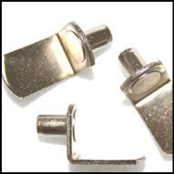 WIDGETCO 1/4'' Nickel''L'' Shelf Pins(QTY 5,000)
