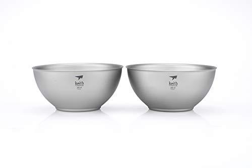 (Keith Titanium Ti5351 Double-Wall Bowl - 8.5 fl oz (Set of 2))