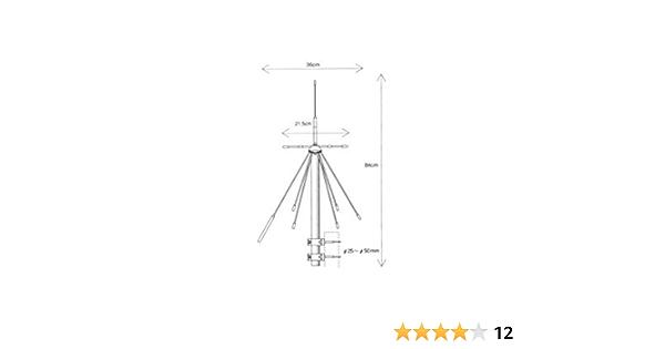 Diamond D de 190 banda ancha discone de antena