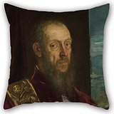 Uloveme Oil Painting Jacopo Tintoretto - Portrait Of Vincenzo Morosini Pillow Covers 18 X 18 Inches / 45 By 45 Cm Gift Or Decor For Girls,son,floor,deck Chair,home Office,office - Both Sides