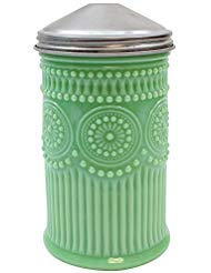 Jadeite Glass Sugar Shaker w/Screw-On Metal Cap Collectible Holds 10 Ounces by TABLECRAFT PRODUCTS CO (Image #1)