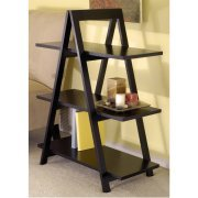 wooden a frame 3 tier shelves bookcase in black ladder style wooden - Wooden A Frame Ladder