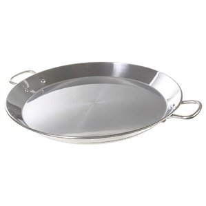 Garcima 16-inch Stainless Flat Bottom Paella Pan, 40cm by La Paella