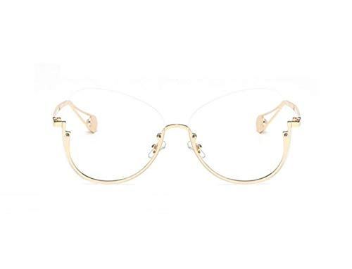 medio UV400 decoración Huyizhi protección Golden libre aire de Unisex viajar gafas al Guay sol gafas gafas marco para AwEYq