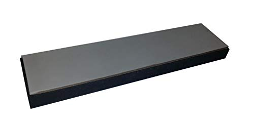 SCHERENKAUF XXL Lederabziehriemen, Abziehleder 30cm x 7cm (Leder Natur, mit Grauer SIC-Polierpaste behandelt + Kautschuk-Unterlage)