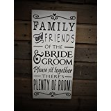 Cheap Works Of Heart ~ Friends of the Bride Sign Choose a Seat Sign Not a Side Pick a Seat Not a Side Sign Wedding Sign Seating Rustic Wedding Sign (White)