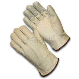 Bob Dale 20-1-1581-9 Premium Grain Leather Cowhide Driver Glove with Keystone Thumb Size 9 Tan
