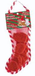 Bark Bars Mesh Christmas Stocking Gingerbread Pet Treat, 2.5-Ounce ()