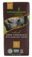 Endangered Species Chocolate Dark Chocolate Bar with Hazelnut Toffee (Rhino) -- 3 ()