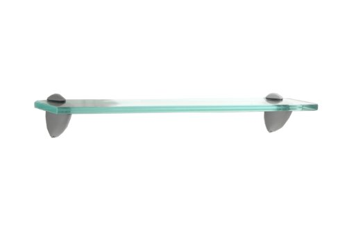 1832 18-Inch Wide Clear Glass Bracketed Wall Shelf ()