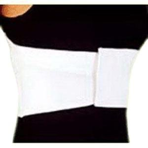 "DSS CMO Female Elastic Rib Belt Extra-Large 6"" L, White, 42"" to 48"" Chest Circumference"