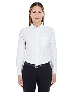 Ultra Club Ladies' Classic Wrinkle-Free Long Sleeve Oxford Shirt, 3XL, White ()