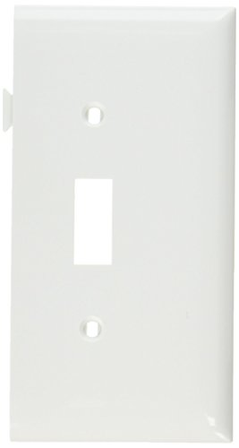 (Legrand-Pass & Seymour PJSE1W Sectional Thermoplastic Wall Plate Junior Jumbo Toggle End Section, White)