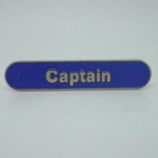 Captain Enamel School Bar Badge - Blue - Pack of 5