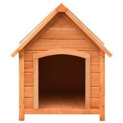 vidaXL Madera Maciza Pino Caseta Perros Abeto 72x85x82 cm Perrera Casa Mascota