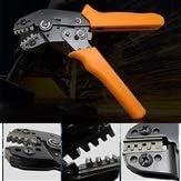 JPLJJ 圧着プライヤー コネクタ端子 プライヤーハンドツール 電気技師 (Style : Ratchet orange)