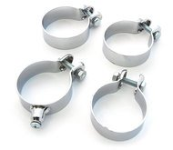 Motorcycle Exhaust Clamps Clamp Set of 4 - Honda CX500 GL500 GL650