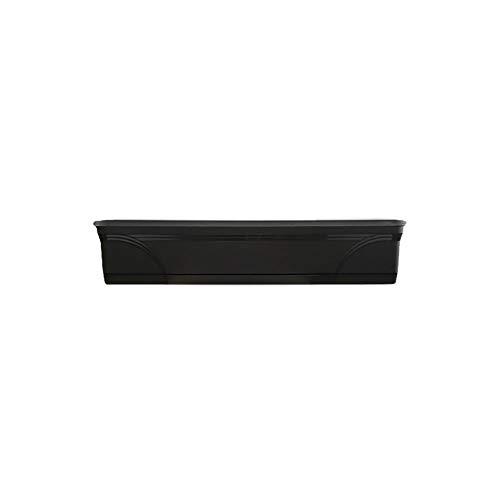 "Southern Patio 36"" Medallion Window Box, Black"