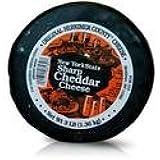 Original Herkimer Cheese Aged Sharp NY WHITE Cheddar Cheese (5 lb. Wheel)