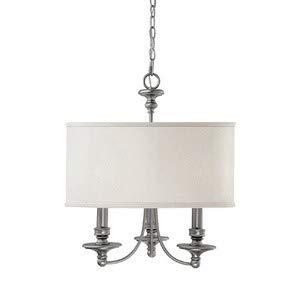 Capital Lighting Midtown Collection 3-Light Matte Nickel Chandelier ()