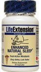 Life Extension Enhanced Natural Sleep avec la mélatonine Vegetarian Capsules, 30 Count