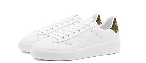 Golden-Goose-Mens-Pure-New-White-Leather-Camouflage-Back-Sneakers