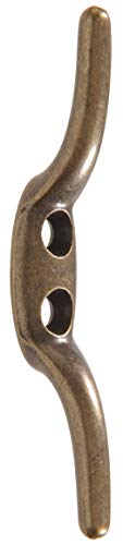 Hillman Hardware Essentials 852714 Rope Cleat Antique Brass 2-1/2