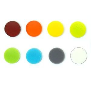 1/2' Circle Rainbow Assortment Fusible Pre-Cut 8 Pack - 96 COE Glass Galleria Inc