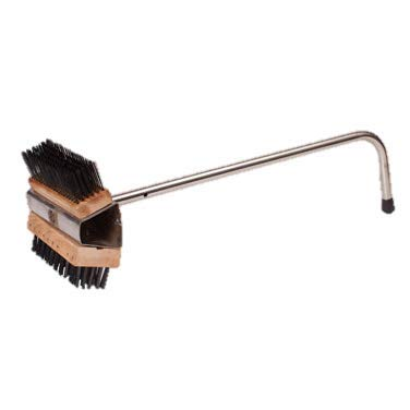 Dual-Headed Brush With Stainless Steel Handle