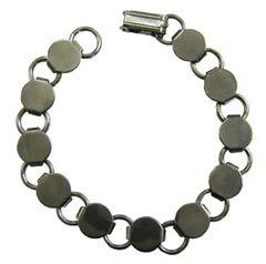 Fuseworks Gunmetal Linked Bracelet, 1-Pack