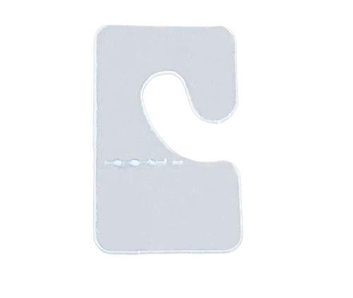 Rusoji 300pcs Clear Color Plastic J-Hook Self Adhesive Back Hang Tab Tag for Retail Store Display