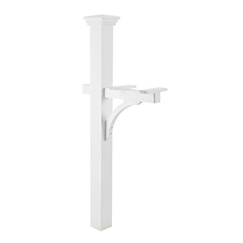 (Good Directions 999191 Lazy Hill Farm Designs Sovereign Cedar Mailbox Post, White)