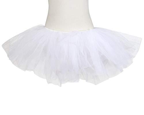 Jupe Blanc Courte Pettiskirt Ballet Sixcup en Tutu Tulle Femme Multicouche D'lastique Mini Mini w1xpaX7q