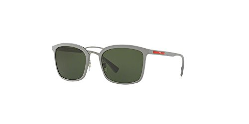 Prada Sport PS03SS VHH1I0 Grey Rubber PS03SS Square Sunglasses Lens Category - Apparel Prada Sport