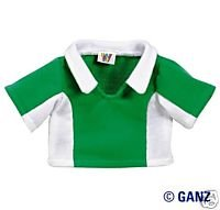 - Webkinz Clothes - Green and White Fleecy