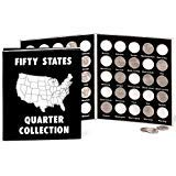 Fox Valley Traders Commemorative State Quarters Black White Album ()