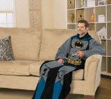DC Comic Batman Comfy Throw - Superhero Fleece Blanket Sleeves